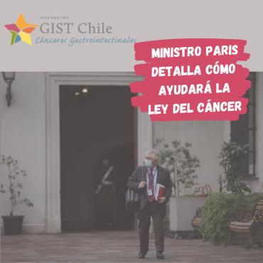 Ministro Paris detalla como se creara la normativa de la Ley Nacional del Cáncer