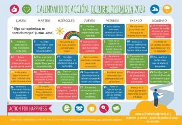 Calendario de la felicidad Octubre