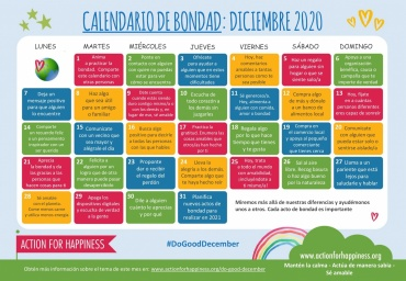 Calendario de la felicidad Diciembre