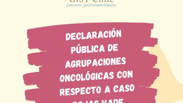 Declaración pública de agrupaciones oncológicas con respecto a Rodrigo Rojas Vade